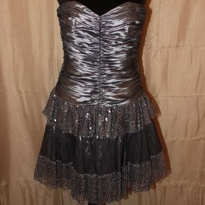 Betsey Johnson Silver Homecoming Dre